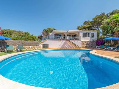 Photo for Beautifully located villa with lush gardens and a pool, close to the sea, ideal for snorkelling