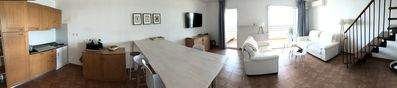 Photo for Superb air-conditioned duplex in front of the sea Sognu di Rena