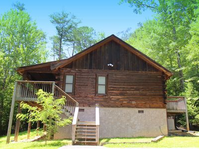 "Photo for ""Simple Pleasures"" is a gorgeous all wood cabin located just minutes from Pigeon Forge."