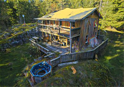 The day I took possession of the Gambier Island Cabin.