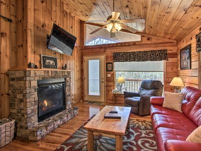 Photo for NEW! Luxury Cabin w/Hot Tub - 5 mins to Dollywood!