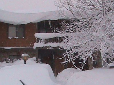 Our snow covered townhouse