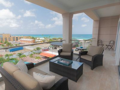 Photo for LEVENT RESORT - Ocean Jewel Two-bedroom condo - LV52E - BEACH VIEW - EAGLE BEACH
