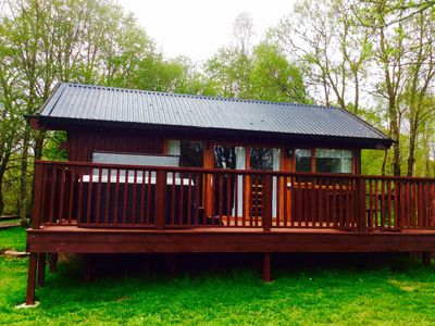 Photo for Cabin with Jacuzzi Hot Tub and wonderful views of Loch Awe