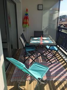 Photo for Saint Jean de Luz T2 nine downtown parking terrace 300m beach rated 3 *