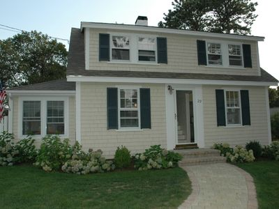 Photo for Bright, sunny beach house rental - steps to ocean beach and town