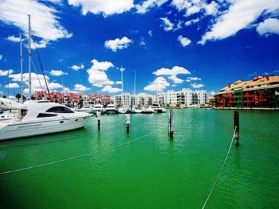 Photo for FANTASTIC HOUSE IN FIRST LINE OF MARINA SOTOGRANDE, ONE MINUTE FROM THE BEACH.