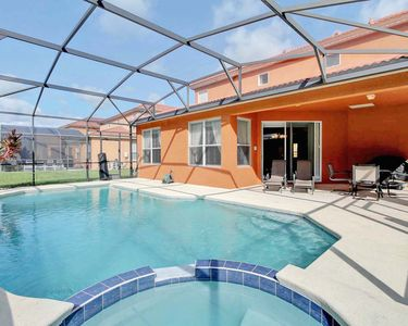 Photo for Newly Furnished, Luxurious  Villa With South Facing Pool near Disney