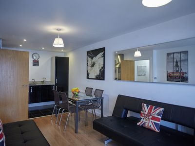 Photo for Modern two bedroom apartment near O2 and Excel Ref:077