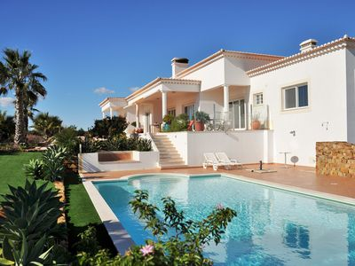 Photo for Luxury Villa Retreat, solar heated pool & panoramic views of ocean & countryside