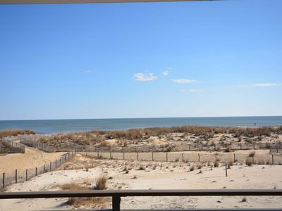 Photo for Traditional 1 Bedroom Oceanfront Condo with Outdoor Pool Located in Midtown Near a Mall and Movie Theater and Only Steps to the Beach!