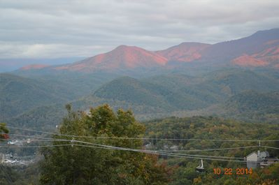 Our million dollar  view from the front deck-fall