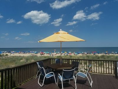 Oceanfront 3BR/2BA, Sleeps 8, Kitchen, Laundry, deck, WIFI, AC, on the dune line