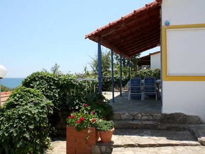 Photo for Cheap holiday house directly at the sea, wifi | Messenia, Peloponnese