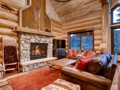 Photo for Apres Ski Cabin: Brand New Log Home, Beautiful View, Hot Tub, Pool Table