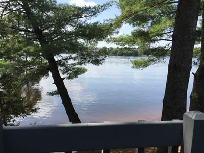 View of the lake from the condo balcony
