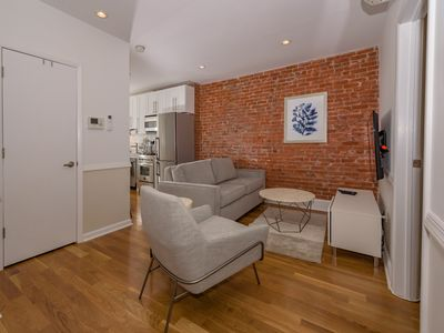 Photo for Cozy 2BR Flat on Quiet Block Near Grove St. PATH