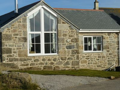 Photo for Converted barn with sea view near St Ives