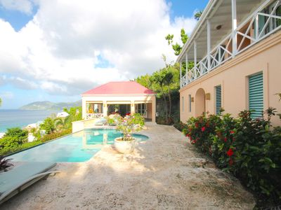 Photo for Luxury 3 Bed Sea View Villa, Long Bay Beach; Private Swimming Pool & Garden