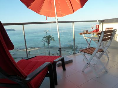 Photo for sunny new apartment right on the sea with a free sandy beach / L12E6472 / 2019