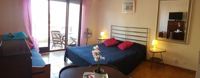 Photo for Studio 27m² at 200m from the beach of Calvi with terrace & large gardenCasa Orsoni