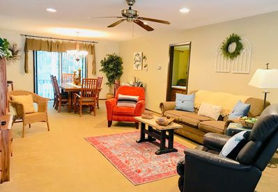 Spacious living and dining room.  Plenty of room for entertaining.