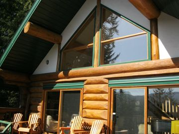 Family Year-Round Log Cabin w Spectacular View Of Lake/Hot Tub,Golf,Beach