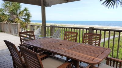 Photo for Gulf-front, small group, watch sunsets from your beachfront hot tub