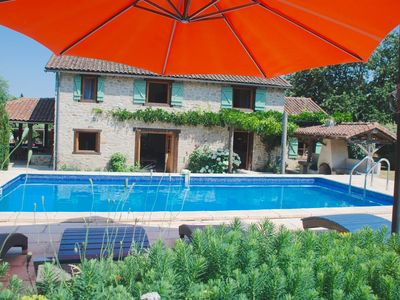 Photo for Gorgeous, quality stone house set in Perigord national park, with private pool