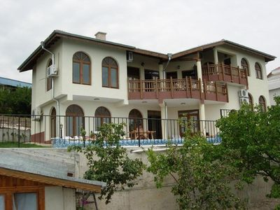 Photo for 5 Star Luxury Villa - Large Private Pool - Spacious Rooms - Panoramic Sea Views
