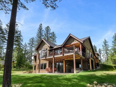 Photo for 25% OFF NOW! 4,000sqft Golf Course Home|Large Deck-Hot Tub-Game Room-Firepit
