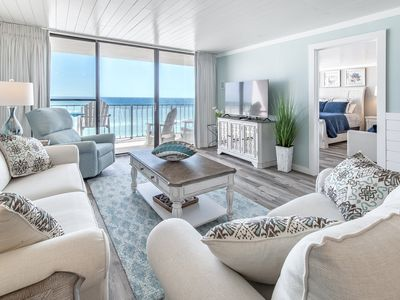 Photo for ☀Edgewater Tower 3-412☀BeachFRONT for 8! Remodeled! Sep 7 to 9 $644 Total!