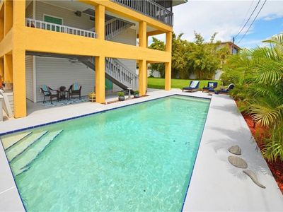 Photo for Beach House with Private Pool! Two screened decks! 2 blocks from beach!