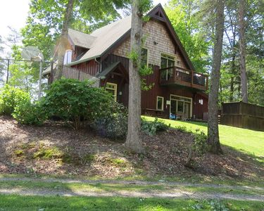 Photo for Views, Hot Tub, River Access, Shared Pool, WiFi, BB Court, Custom Architecture,