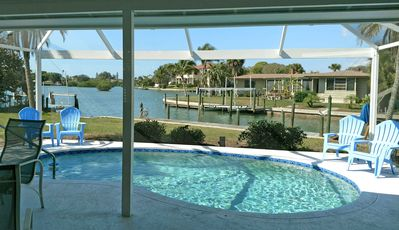 Renovated waterfront home on Lyons Bay with dock, pool and nearby beach