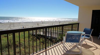 Photo for OCEANFRONT 3 Bedroom 3 Bath. Outdoor pool. Great view of the ocean from the oceanfront balcony.