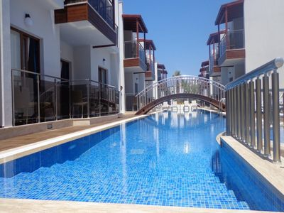 Photo for Luxury self catering 2 bedroom holiday apartment for rent in Turgutreis, Bodrum