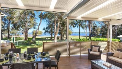 Photo for Breakwater House - 5 bedroom waterfront house with panoramic lake views.