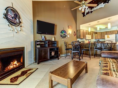 Photo for Upgraded condo w/fireplace, 1/2 mile from Brian Head Resort! On free bus route!