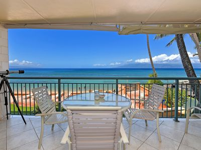 Photo for Makani Sands #210 Corner 2Brm 2Ba Condo  with balcony on the ocean