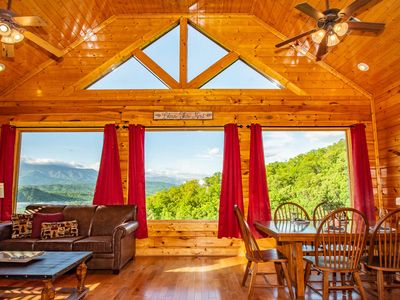 Photo for April Mist~ Newly Redecorated, Amazing Mtn Views, Pool Table, Hot Tub, WiFi, Arcade Game, onsite Gym