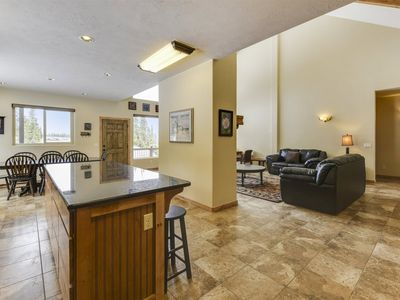 Photo for Spacious cabin with beautiful views and a large back deck! Enjoy playing foosball and ping pong when