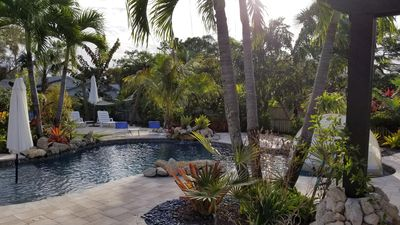 Photo for ⭐  Beautiful Private Backyard Resort Heated Pool/Spa Downtown & Beaches
