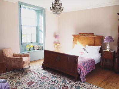 Lady of the Manor Mistress Bedroom with gorgeous garden views.