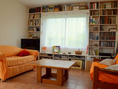 Photo for Small, cozy and colorful holiday home on a garden 8 km from the beaches