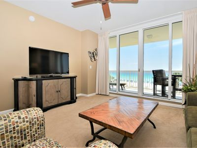 Photo for Beachfront Condo: Beach View from both bedrooms! FREE Beach Chair Service!😎
