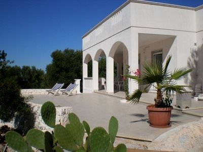Photo for idyllically situated, modern holiday house,sea view, hillside situation, Pool