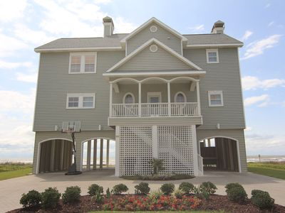 Photo for Oceanfront  - Beautiful Beach House - One of a Kind- Sleeps 17- Private Beach