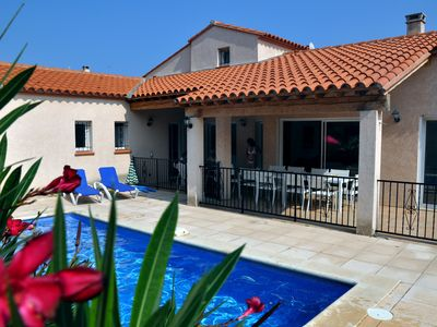 Photo for VILLA 14PERS 300M BEACH MARINA-SWIMMING POOL JACUZZI HEATED-Contact Owner Before