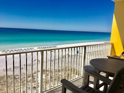 Photo for RIGHT ON BEACH!-Top Floor (6)-Free Beach Service! NEWLY UPDATED!